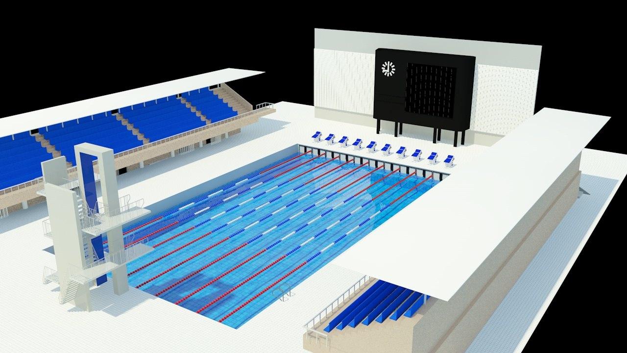 c4d swimming pool