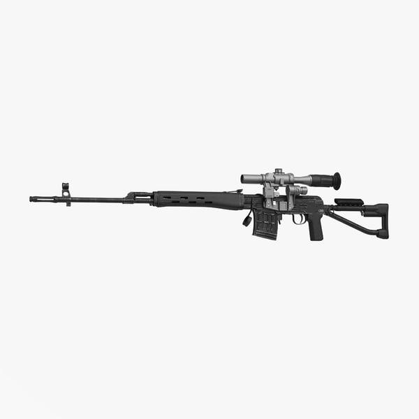 3d sniper rifle dragunov svds