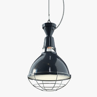 industrial style factory light obj
