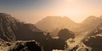 terrain canyon 3d model