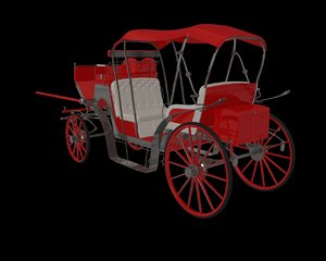 3d model carriage horse