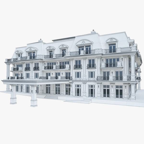 wellness hotel building 3d model