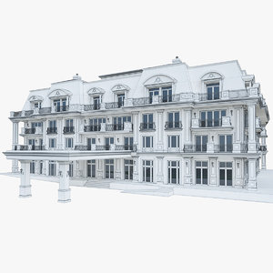 wellness hotel building 3d model