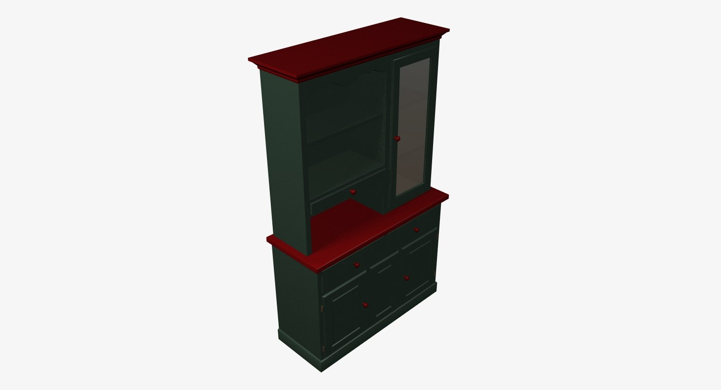 3d kitchen cabinet model