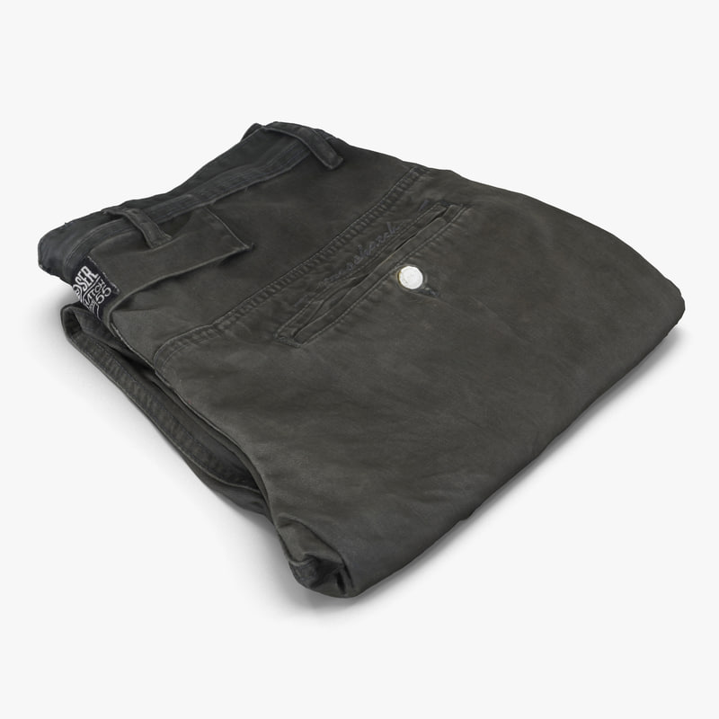 folded trousers 3d max