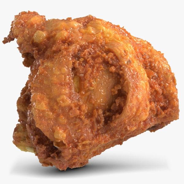 3d chicken thigh model