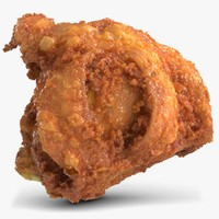 3d chicken thigh model