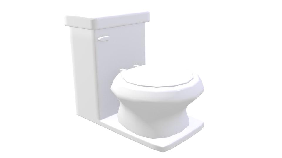 3d toilet realistic