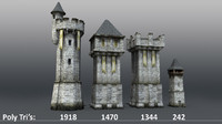 Medieval Castle Towers and Walls v2