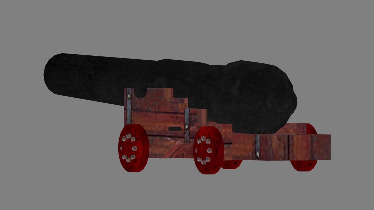 cannon pirate ship 3d model