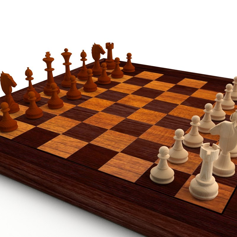 chess set ches 3d 3ds