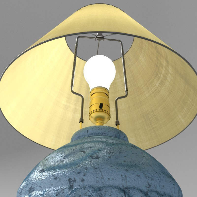 3d model blender cycles lamp light