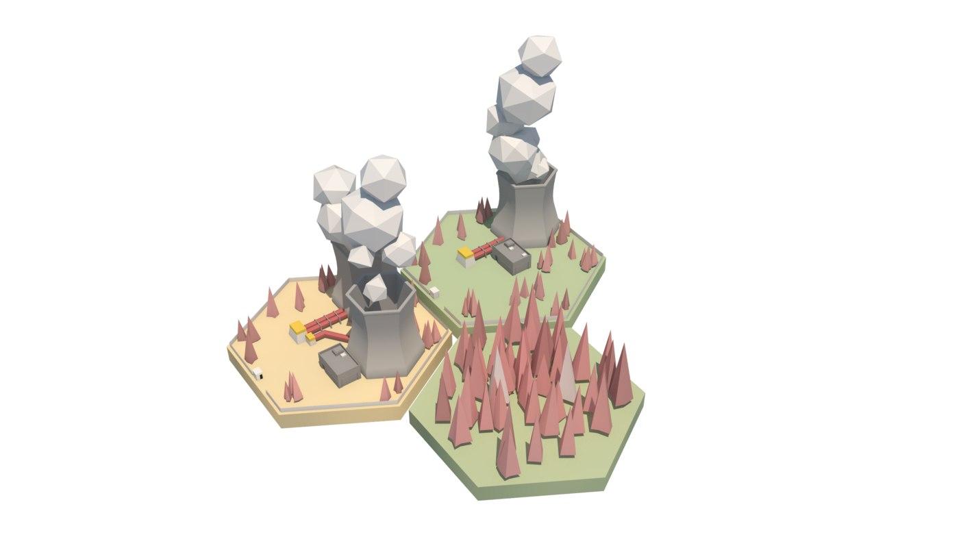 electrical plants asset obj
