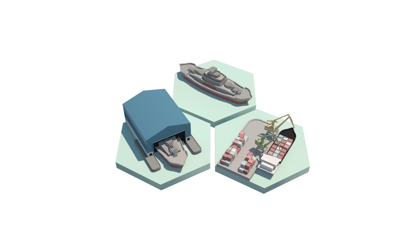 asset shipyard battleship obj
