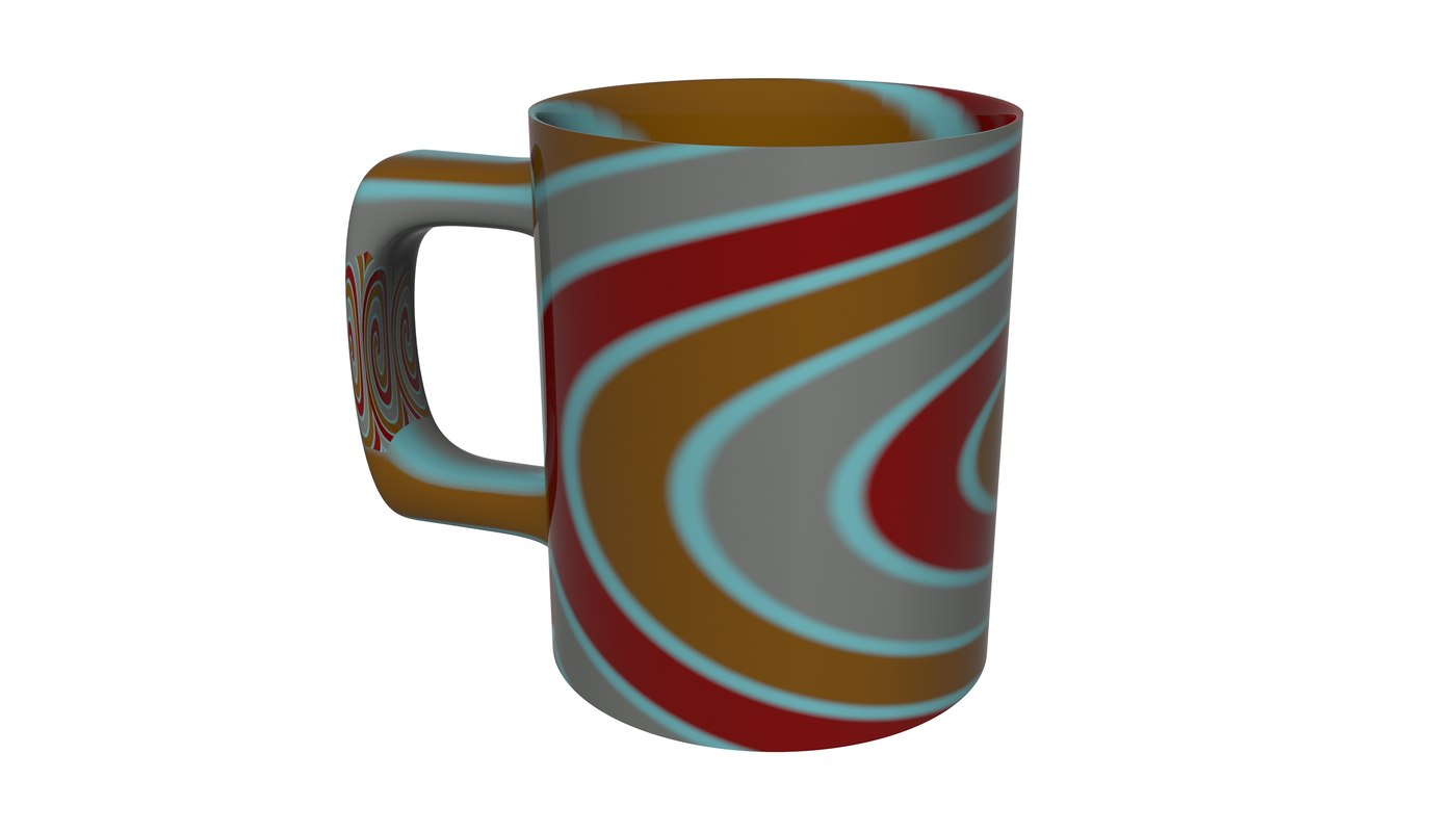 colourful cup coffee 3d c4d