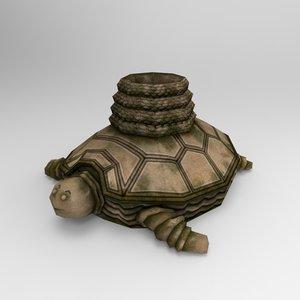 stone tortoise 3d model