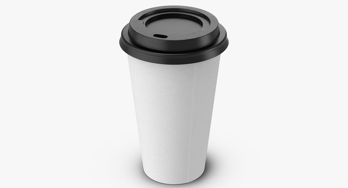 coffee cup 16oz takeout 3d max