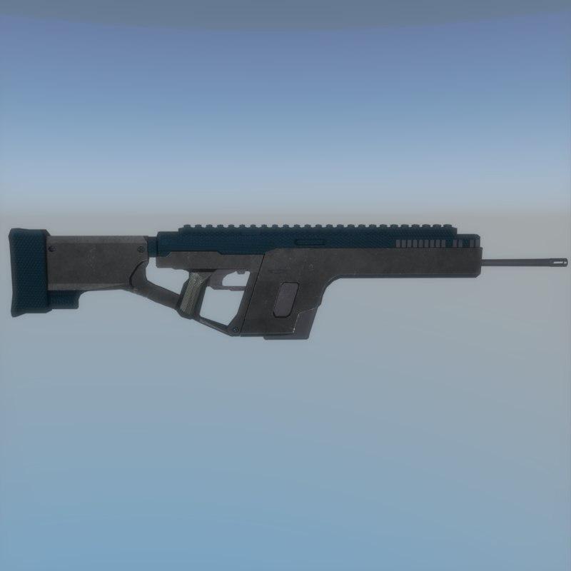 fi assault rifle 3d obj