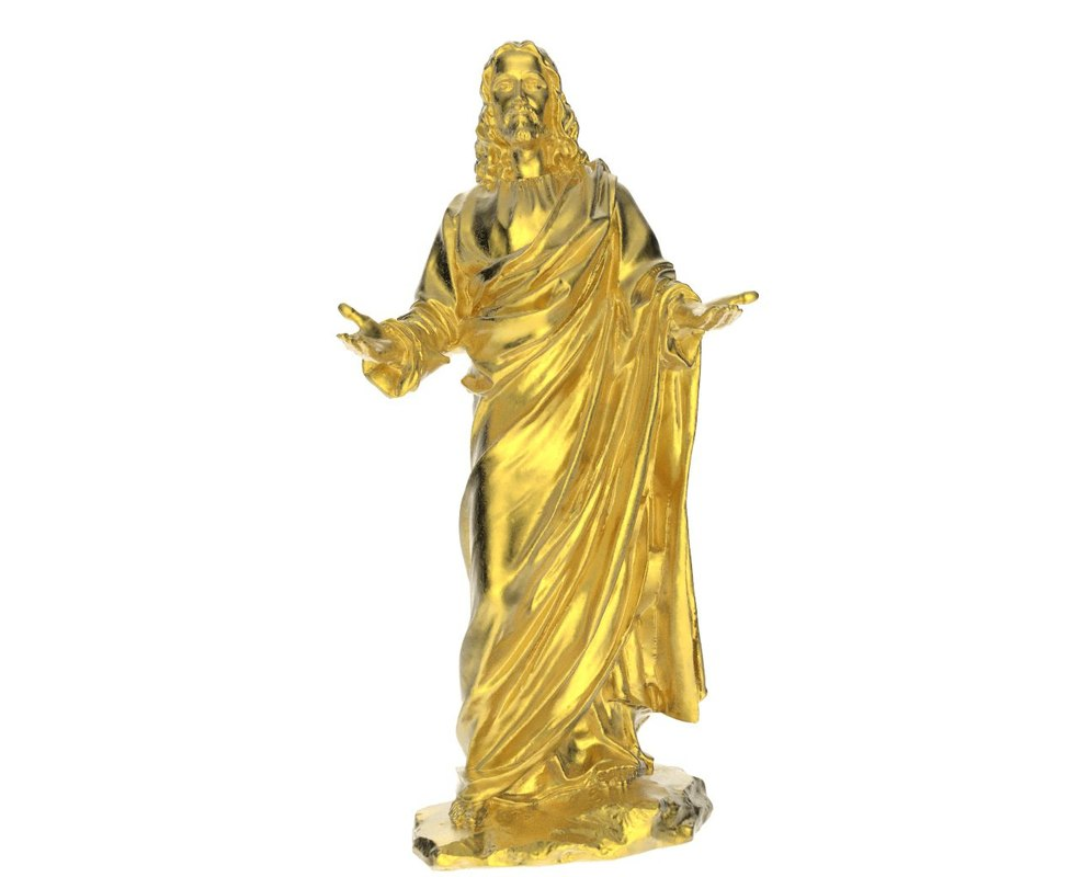 3d model jesus christ statue scan