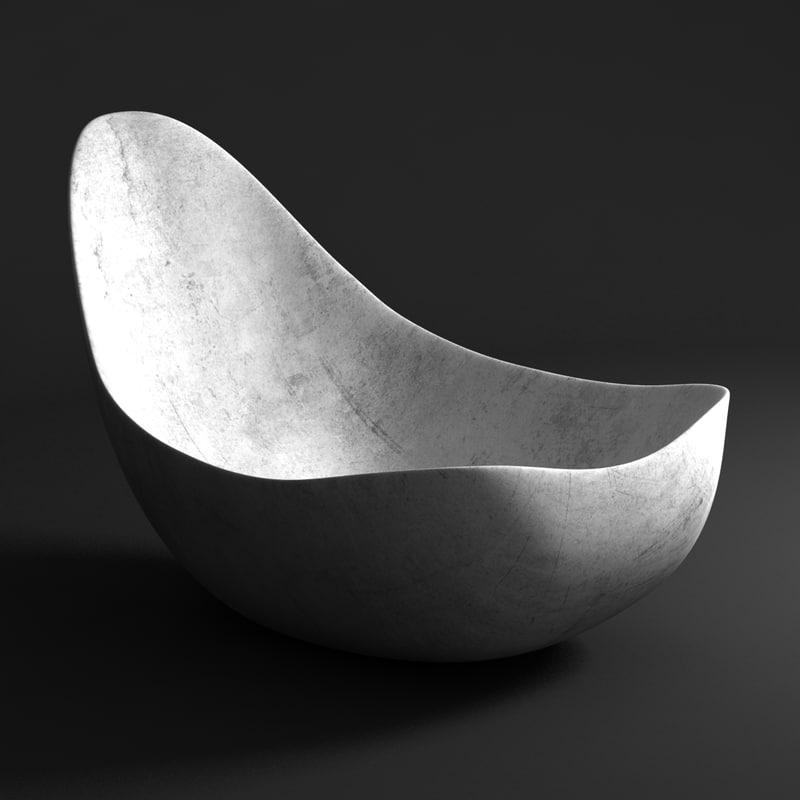 chair rasmus fenhann curve 3d model