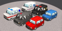 3d model cartoon cars