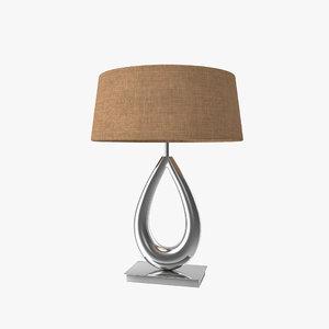 modeled lighting chelsom table lamp 3d max