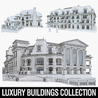 luxury buildings 3ds