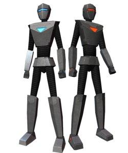 droids low-poly 3d model
