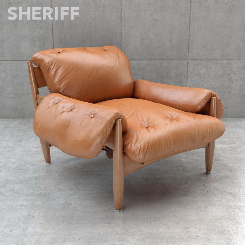 sheriff lounge chair sergio 3d max