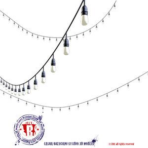 string lights 3d dxf