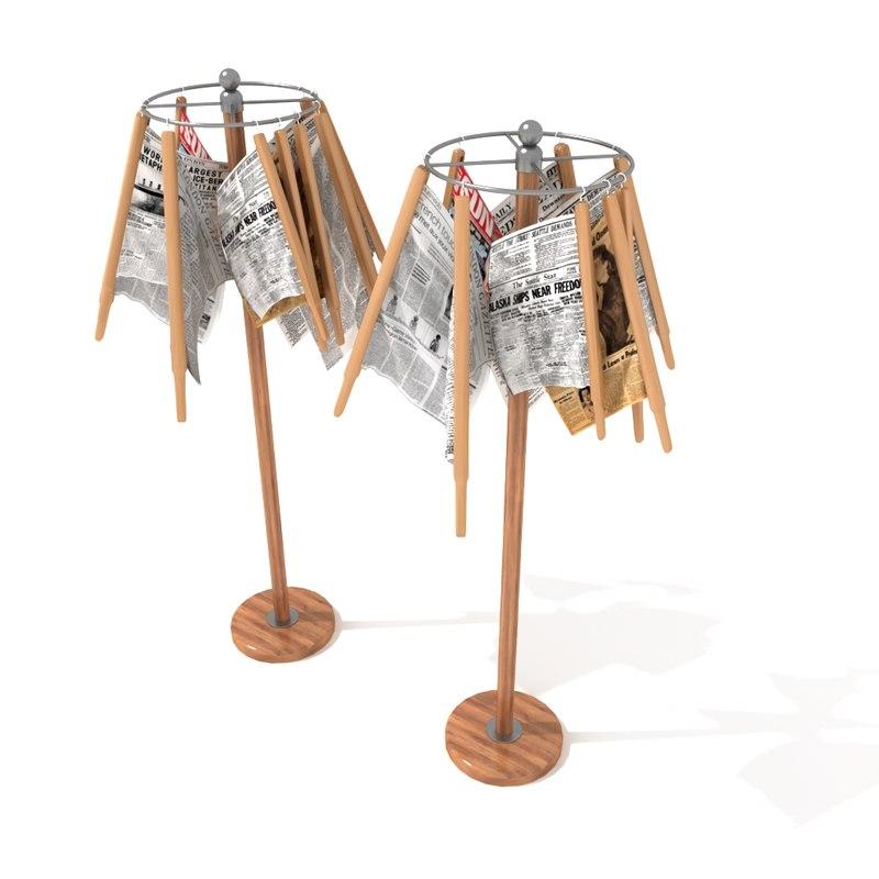 3d model newspaper stand