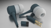blender earphones 3d model