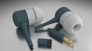blender earphones 3d model