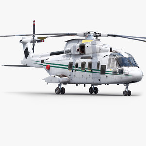 agustawestland aw101 helicopter 3d max