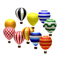 Cartoon low poly baloons