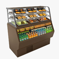 food merchandiser materials 3d model