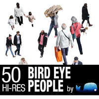 50 Hi-Res Bird Eye People