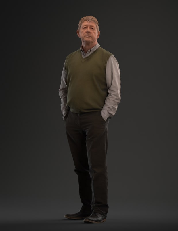 posed man standing 3d max
