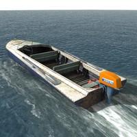3d max motor boat