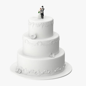 wedding cake miniatures 01 3d c4d