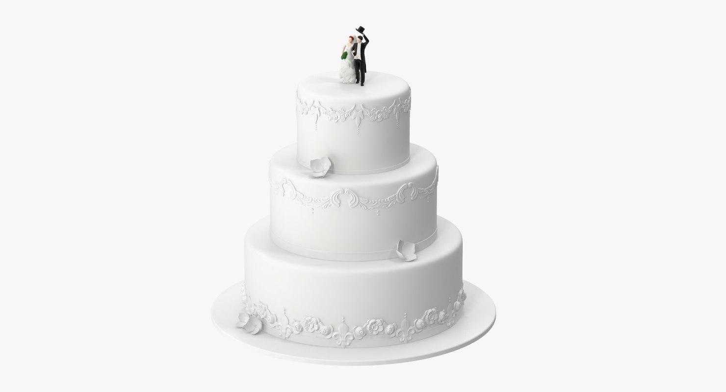 wedding cake miniatures 01 3d c4d