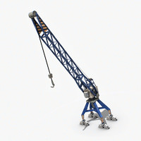 3d port crane industrial