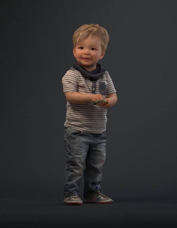 cute boy 3d model
