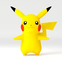 pikachu pika 3d model