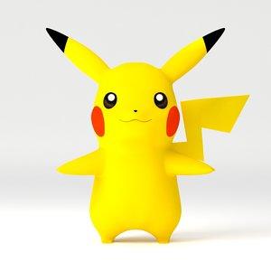 pikachu pika 3d obj