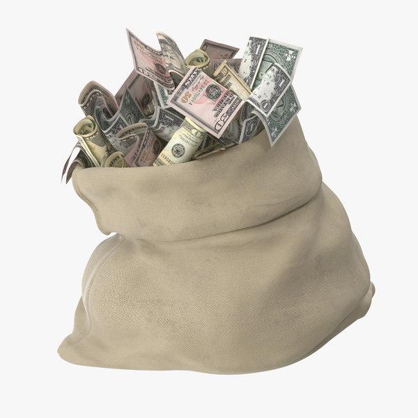 open money bag 02 max