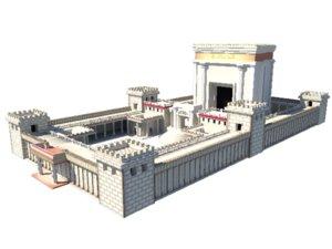 salomon temple 3d obj