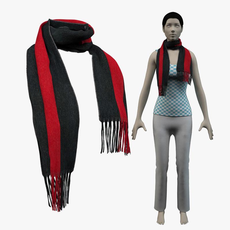 3d model scarf gucci