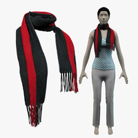 3d model scarf gucci