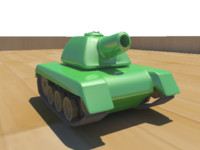simple mini tank 3d model
